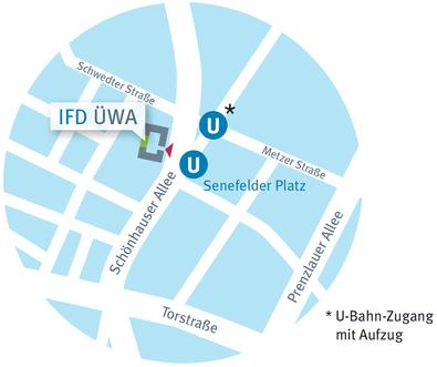 Lageplan LAG und IFD ÜWA