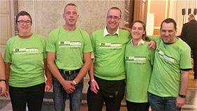 BUS:  Das LiVeMAP-Team beim Service-Einsatz im Berliner Roten Rathaus
